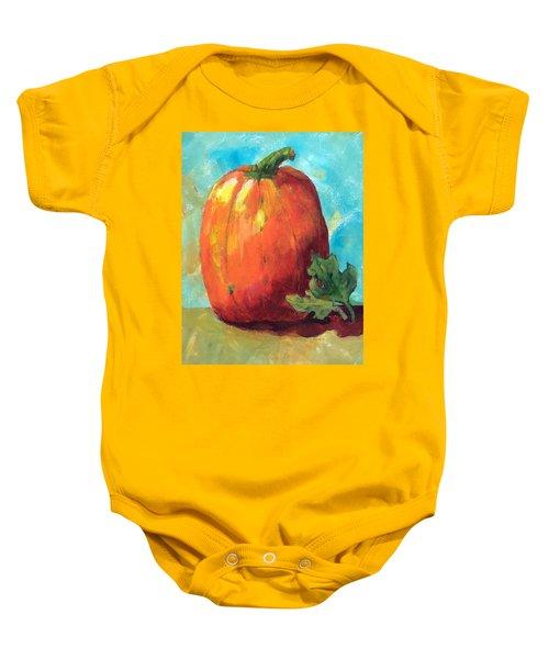 Tall Pumpkin Baby Onesie