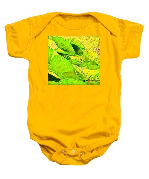 Taro Leaves In Green Baby Onesie