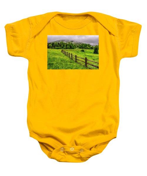 Tea Creek Meadow And Buttercups Baby Onesie