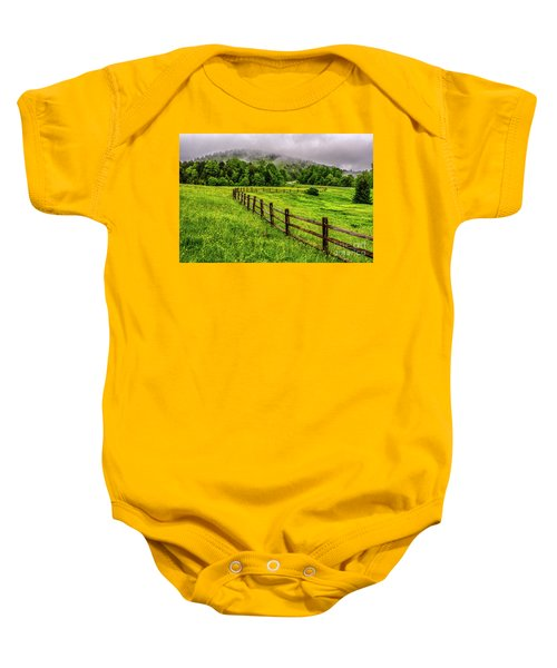 Tea Creek Meadow And Buttercups Baby Onesie