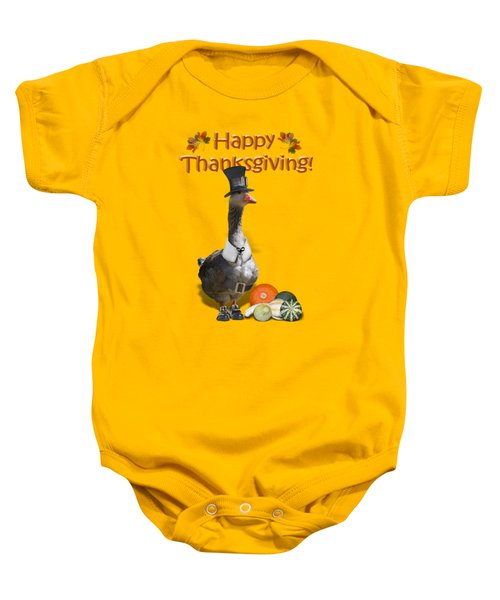 Thanksgiving Pilgrim Goose Baby Onesie by Gravityx9  Designs