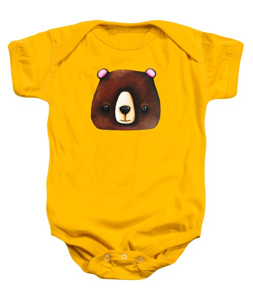 The Big Brown Bear Baby Onesie by Lucia Stewart