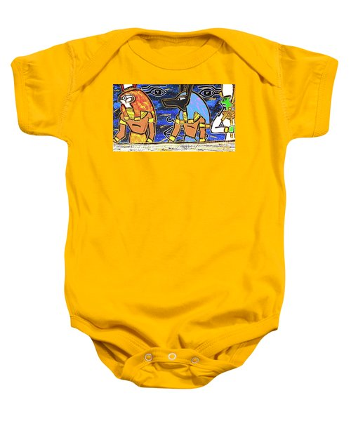 The Boat Of Ausar Passing Through The Underworld Baby Onesie