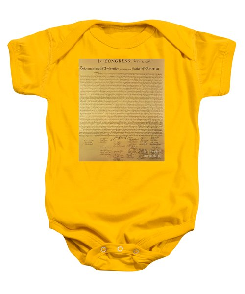 The Declaration Of Independence Baby Onesie
