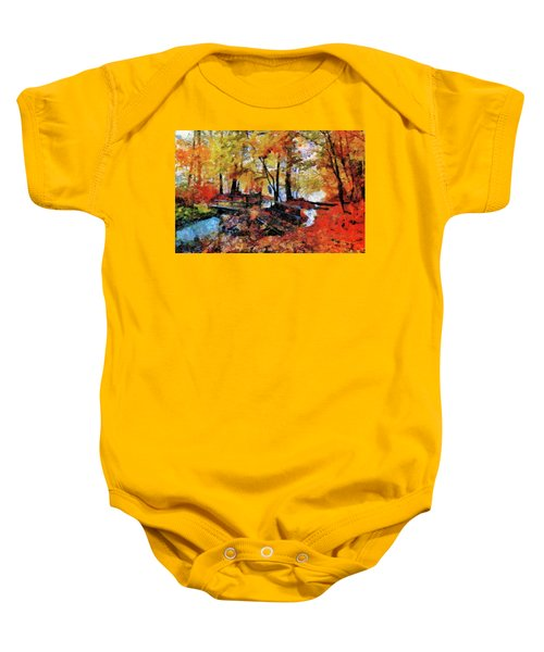 The Failing Colors Of Autumn Baby Onesie
