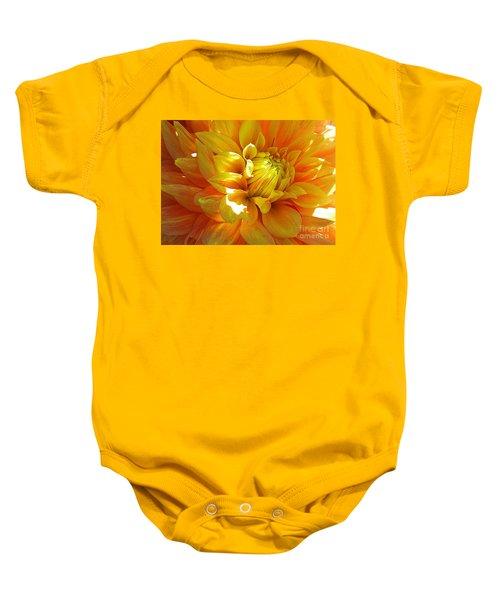 The Heart Of A Dahlia Baby Onesie