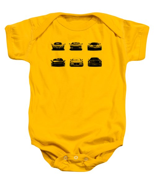 The Italian Supercar Collection Baby Onesie