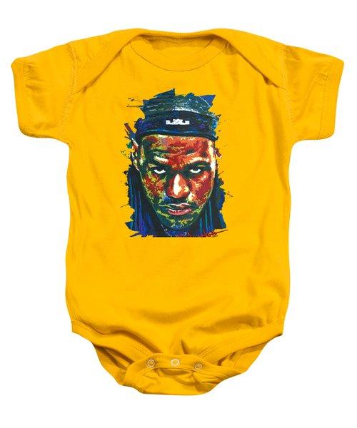 The Lebron Death Stare Baby Onesie