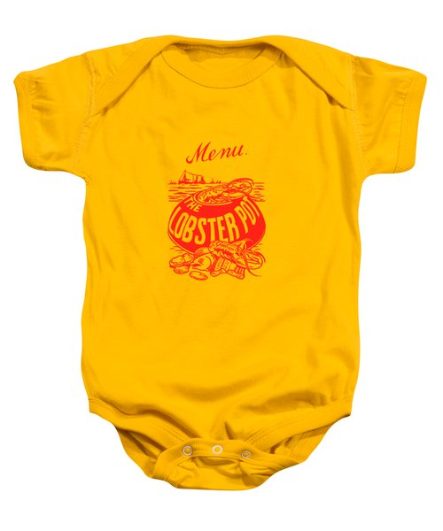The Lobster Pot 1960s Baby Onesie