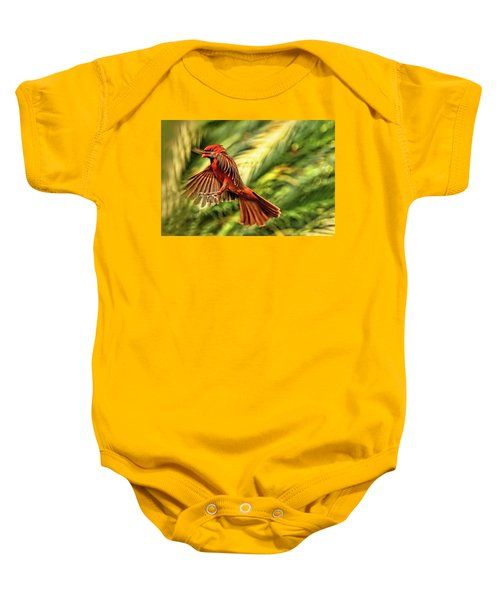 The Male Cardinal Approaches Baby Onesie