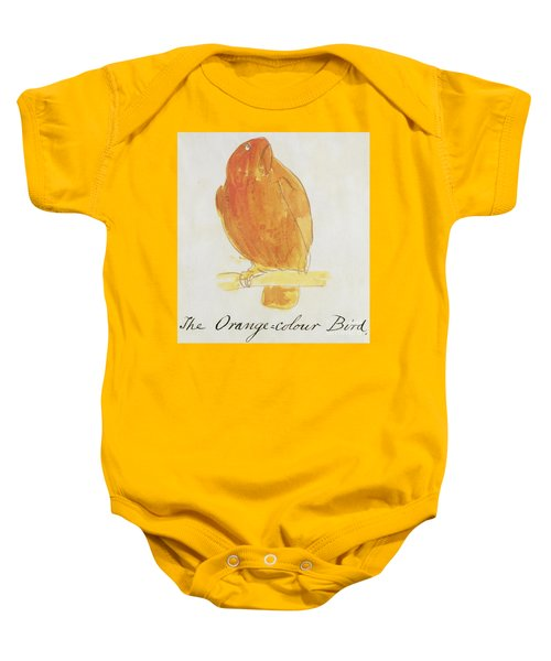 The Orange Color Bird Baby Onesie