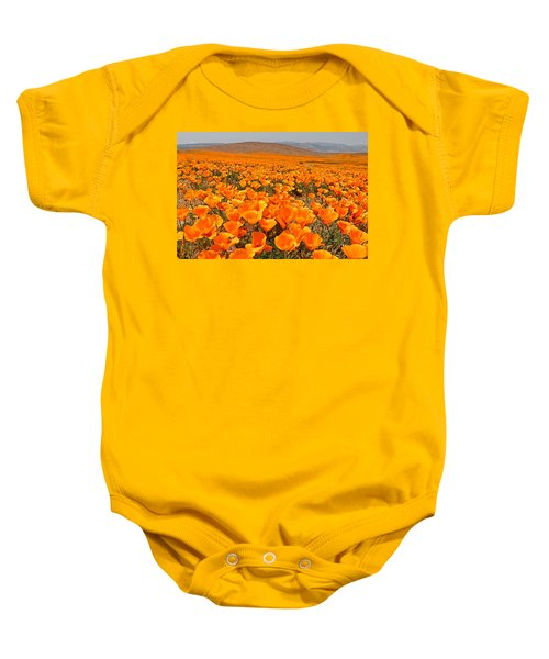 The Poppy Fields - Antelope Valley Baby Onesie