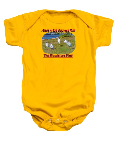 The Woodstork Five Baby Onesie