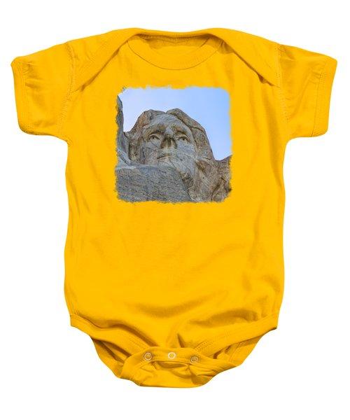 Thomas Jefferson 3 Baby Onesie by John M Bailey