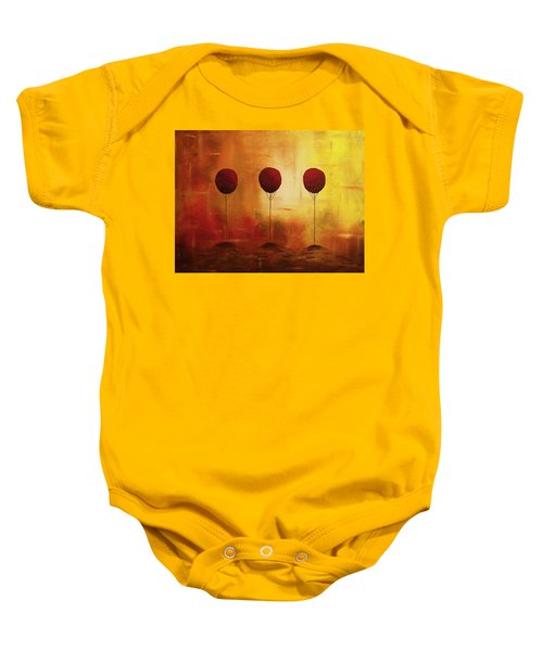 Three Alone But Together Baby Onesie