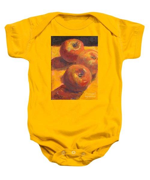 Three Apples Baby Onesie
