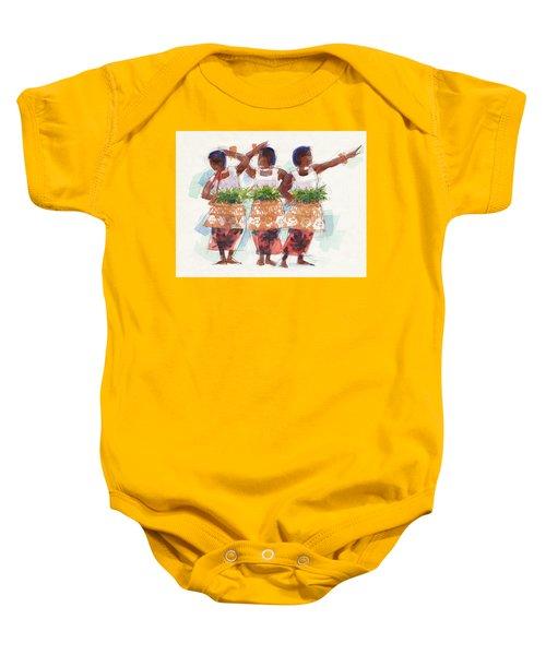 Three Fijian Dancers Baby Onesie