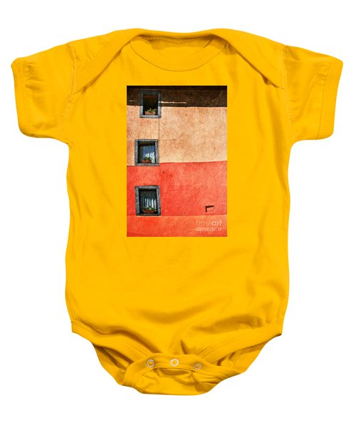 Three Vertical Windows Baby Onesie