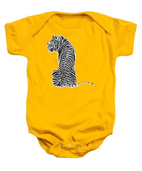 Tiger Back Art Baby Onesie