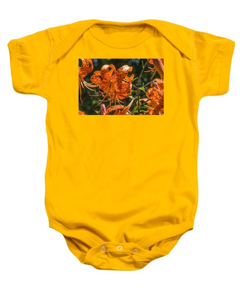Tiger Lilies In The Sun Baby Onesie