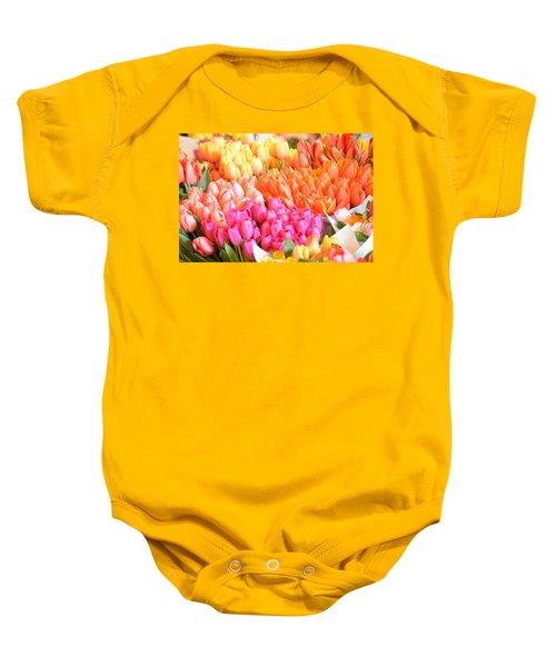 Tons Of Tulips Baby Onesie