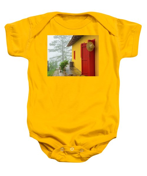 Top Of The Mountain Baby Onesie
