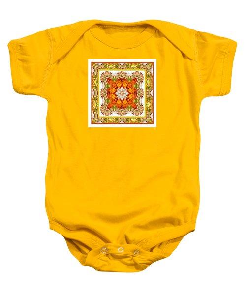 Topaz And Peridot Bling Kaleidoscope Baby Onesie