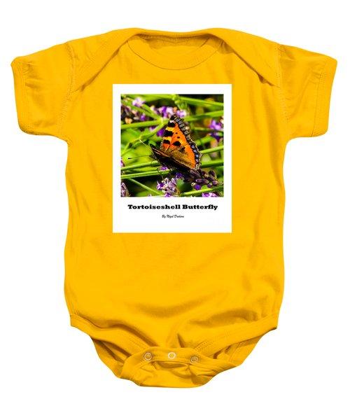Tortoiseshell Butterfly. Baby Onesie