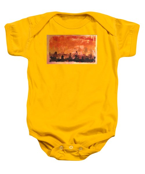 Towers And Tanks Baby Onesie