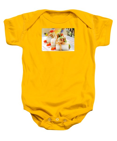 Traditional Chinese Hakka Rice Noodle Roll Baby Onesie