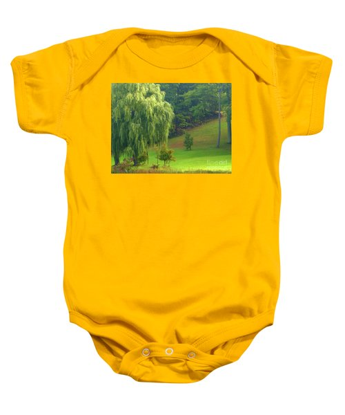 Trees Along Hill Baby Onesie