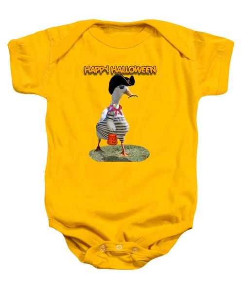 Trick Or Treat For Cap'n Duck Baby Onesie