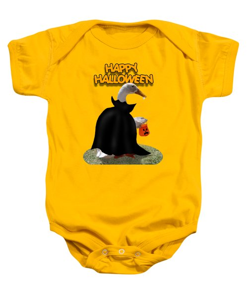 Trick Or Treat For Count Duckula Baby Onesie by Gravityx9  Designs