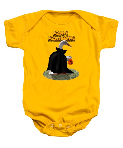 Trick Or Treat For Count Duckula Baby Onesie