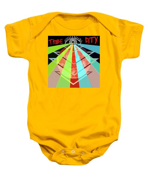 Baby Onesie featuring the painting Triiibe City For Bxdizzy419 by Chief Hachibi
