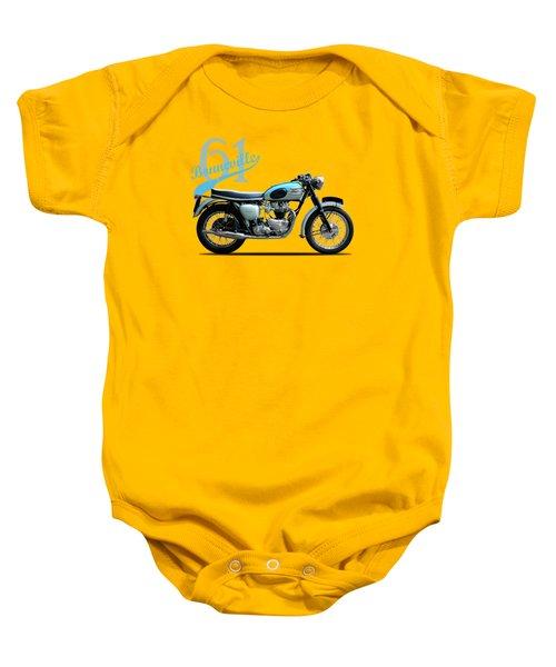 Triumph Bonneville 1961 Baby Onesie by Mark Rogan