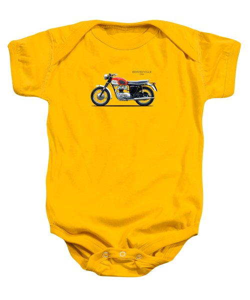 Triumph Bonneville 1966 Baby Onesie by Mark Rogan