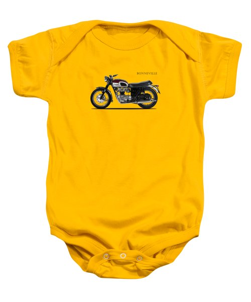 Triumph Bonneville 1968 Baby Onesie by Mark Rogan
