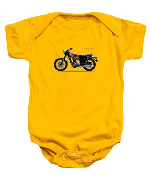 Triumph Bonneville 1969 Baby Onesie by Mark Rogan