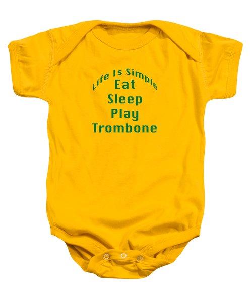 Trombone Eat Sleep Play Trombone 5517.02 Baby Onesie by M K  Miller