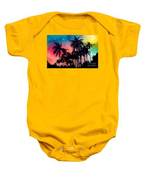 Tropical Colors Baby Onesie