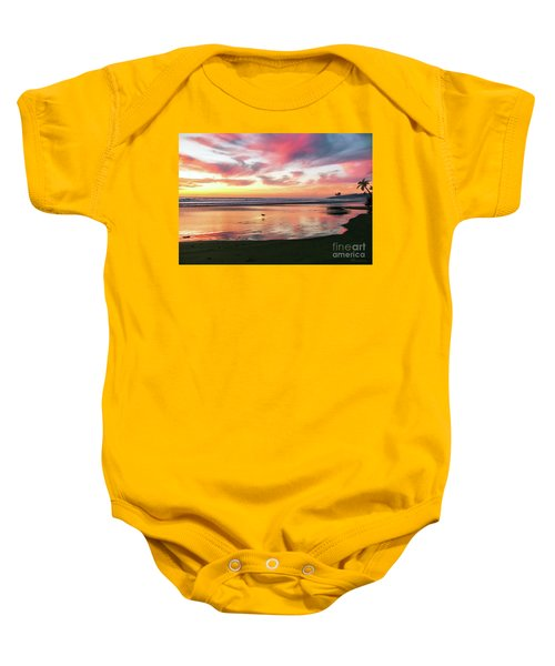 Tropical Sunset Island Bliss Seascape C8 Baby Onesie