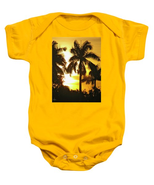 Tropical Sunset Palm Baby Onesie