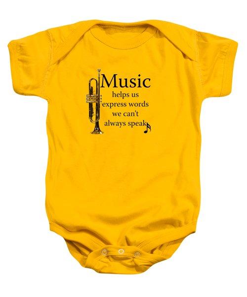 Trumpet Music Expresses Words Baby Onesie