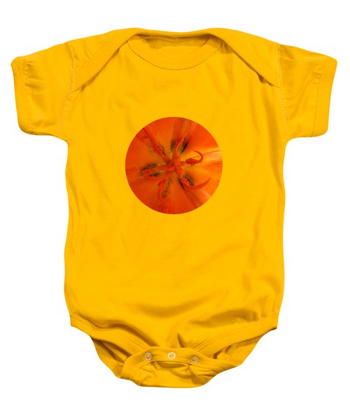 Tulip Center By V.kelly Baby Onesie