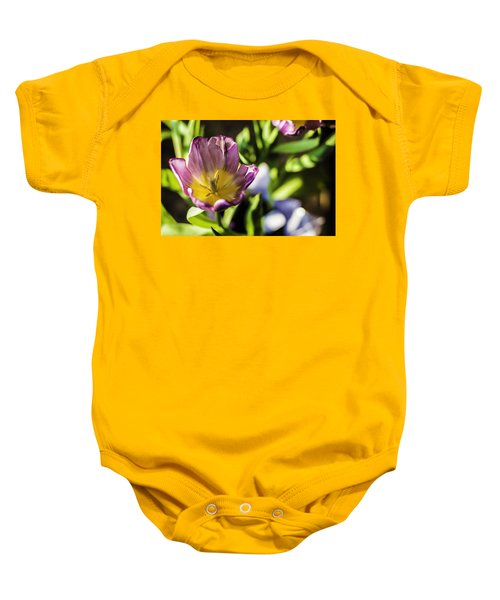 Tulips At The End Baby Onesie