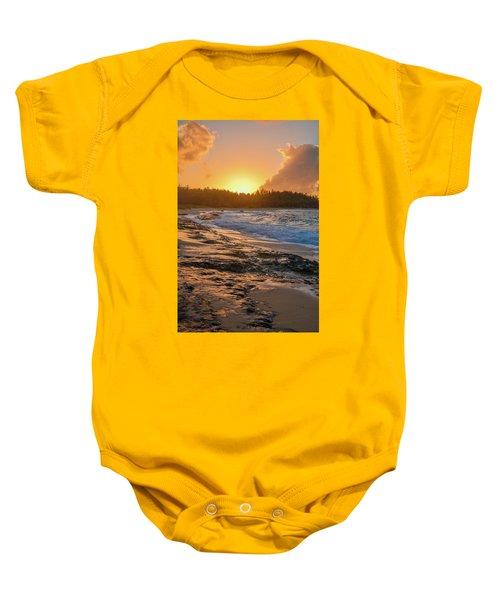 Turtle Bay Sunset 3 Baby Onesie