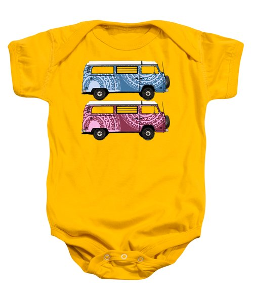 Two Vw Vans Baby Onesie