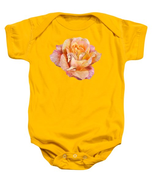 Unicorn Rose Baby Onesie