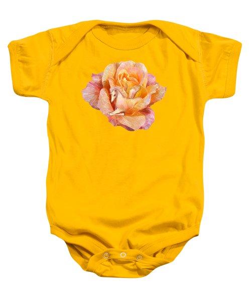 Unicorn Rose Baby Onesie